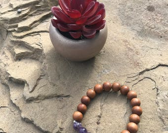 Sandalwood Collection - Amethyst - Great for stacking or on it's own!