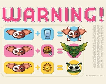 Warning! (Gremlins Print)