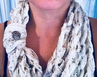 Infinity Scarf // Chain Scarf // Sequin Scarf // Gifts For Her // Womens Accessories
