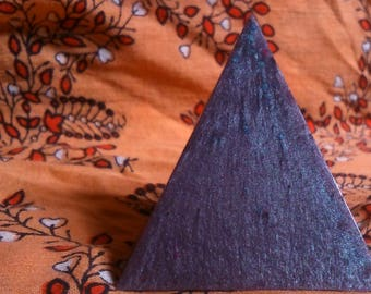 Purple Glitter Resin Pyramid.