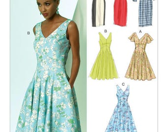 V8997 Vogue dress sewing pattern