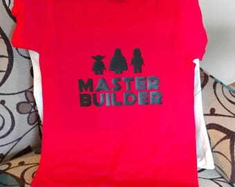 "Lego Star Wars ""Master Builder"" shirt"