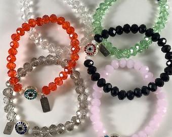 Crystal Eye Bracelets