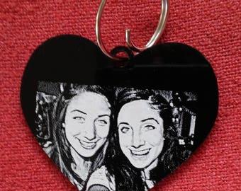 Custom Photo Laser Engraved Key Tag