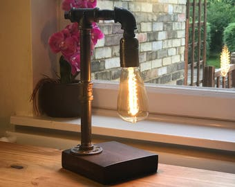 industrial table lamp edison lamp pipe lamp steampunk lamp edison bulb