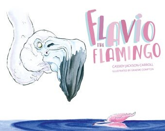 Flavio The Flamingo -  Children's Book - Birthday book for kid's