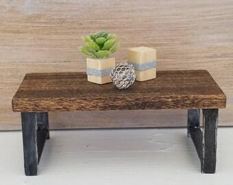 Miniature Modern Coffee Table, Dollhouse Furniture, Modern Table, Dollhouse Miniatures, Living Room Furniture, Miniature Furniture