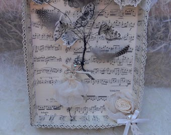 paper and lace table: hunting butterflies