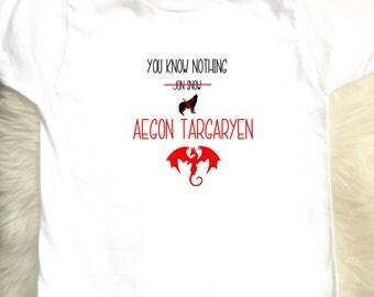 You Know Nothing Aegon Targaryen Toddler & Youth Tee