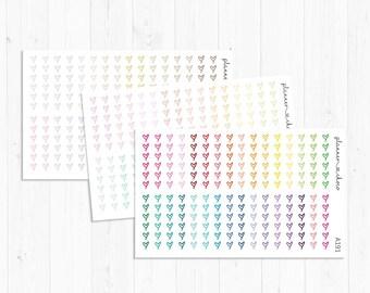 Heart checklist stickers/label/planner stickers /ECLP/erincondren life planner/multicolor functional/rainbow/pastel/neutral