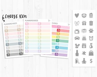 Little things box stickers/planner sticker/planner stickers /ECLP /EC vertical weekly kit/multicolor basic functional/rainbow pastel neutral