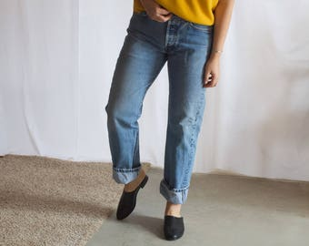 vintage 1970s mustard yellow sweater / vintage crewneck sweater / oversized minimal sweater / xs / s / m / l / xl