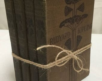 Vintage Rudyard Kipling Collection of 4 Books