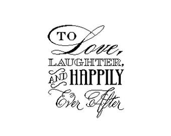 Love and Laughter Cross Stitch Pattern