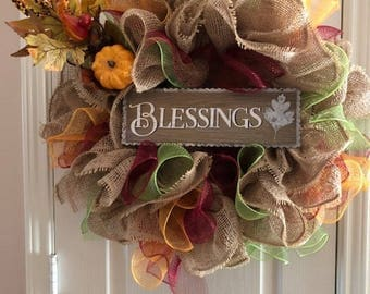 Autumn Blessings Wreath