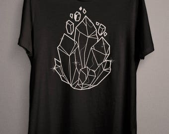 Witch Crystal, Wiccan Crystals, Pastel Goth clothing T-Shirt - for the everyday Witch, Wicca or Pagan Person