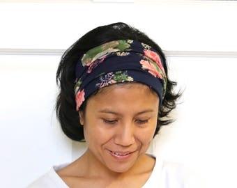 Wide Headband For Women, Floral Headband, Hippie Headband, Extra Wide Headband, Yoga Headband, Wide Yoga Headband, Adult Headband Floral