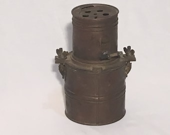 Early 1900's Japanese Wakow Carbide Miners Lamp
