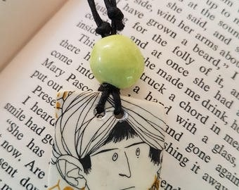 Up- cycle illustration pendent