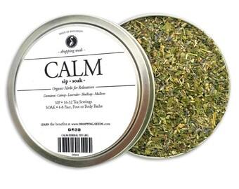 CALM Herbal Blend - Chakra Tea - Herb Blend - Herbal Magic, Diy Herbal Blend, Chakra Blend, Herbal Tea Blend, Herbal Soak, Herbal Bath Salts