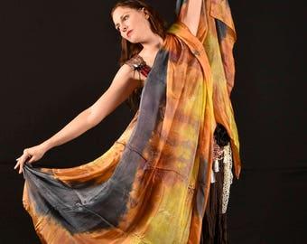Fall Festival - Hand Dyed Silk Veil