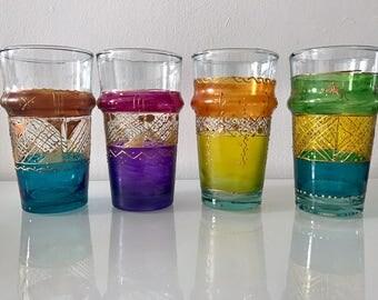 Hand-Painted XXL Moroccan Tea Glass