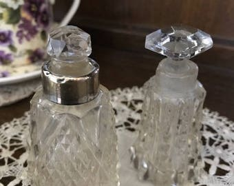 1930's perfume bottles set of two