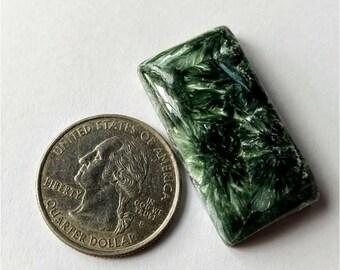 34.05x17.90mm,Octogen Shape Seraphinite Russian Cabochon/Attractive  Seraphinite /wire wrap stone/Super Shiny/Pendant Cabochon/Semi Preciou