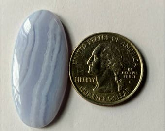 38.23x18.30mm,Ovel Shape Blue Lace Agate Cabochon,Attractive Blue Lace Agate/wire wrap stone//Pendant Cabochon/SemiPrecious Gemstone