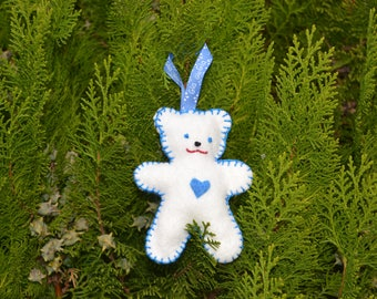 White and blue Teddy