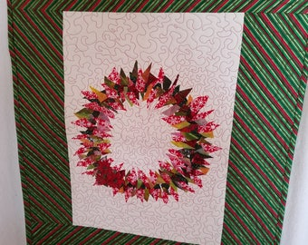 Snips Christmas Wreath Quilted Wall Hanging