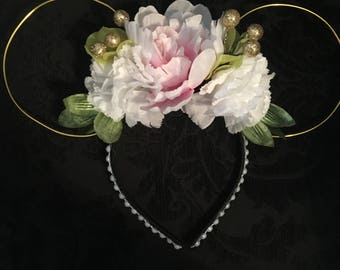 Peony Pink Princess (Floral) Ears