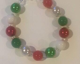 Holiday Bubblegum Bracelet