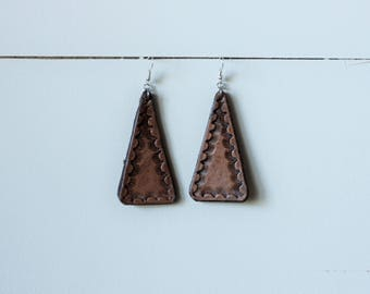 Natural Collection Tamara Earrings | Leather Earrings | Birthday Gift | Anniversary | Gifts under 25 | Handmade | Gifts for Her
