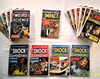 EC Comics Trade Paperback Assortment:Weird Science, Crime Suspenstories & Shock Suspenstories