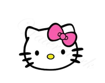 2 for 1 Kitty SVG and Studio 3 Cut File & Stencil Files Cutouts for Cricut Silhouette Designs Logo Logos Cutouts Downloads Stencils Hello