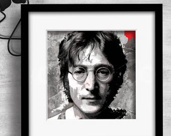 Print / John Lennon / Beatles / Art / Music / Graphic design / Design / Prints / Contemporary / Wall art / Cool / Icons / Gift