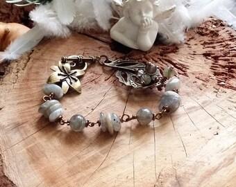 Unique - Bracelet en Bronze et Labradorite Par AngelS SignS