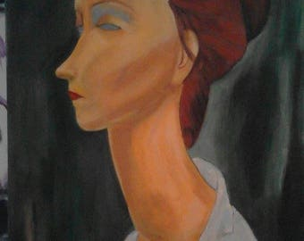 Diane - Painting by Modigliani acrylic on canvas