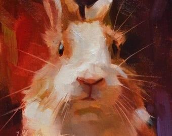 Custom Pet Oil Painting, Custom Pet Portraits, Animal Painting, Original Art, 15x15 cm