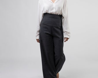 High-waisted Trousers, Palazzo