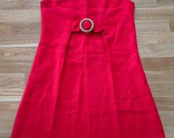 Vintage 60s red shift dress scooter dress mod