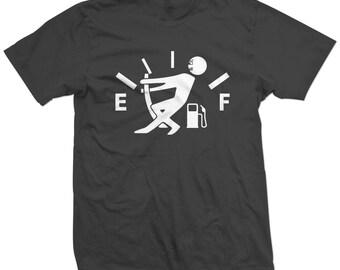 Fuel Gauge Empty - Funny Racing T-shirt