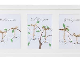 Framed Personalised 'Family Tree' Artwork