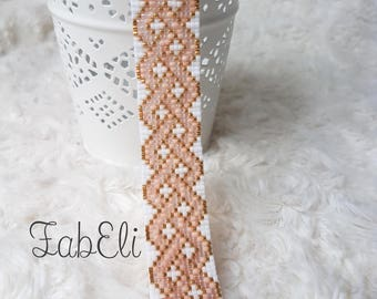 Pastel pink braided woven bracelet