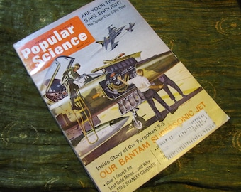 Vintage Popular Science Magazine March 1966 w the F-5 Bantam Supersonic Jet, Gold Mines, 2-Ply Tires, and More!