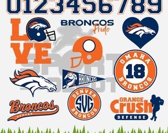 DENVER BRONCOS Files, Denver Broncos svg, Broncos Emblem, Football Cutting Files, Layered Vectors, 6 Formats Included - MSD-29