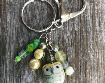Keychains for Women, Owl Keychain, Owl Gifts, Owl Bag Charm, Beaded Keychain, Purse Charm for Handbags, Beaded Purse Charm, Bag Charm, Gift