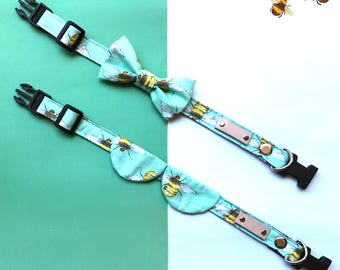 Pet-Collar bees print light green color