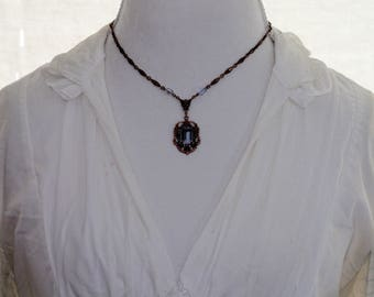 Kirks Folly Purple Pendant Necklace